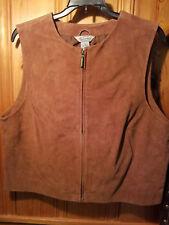Stonebridge Suede Leather vest size M rust/brown vintage EUC