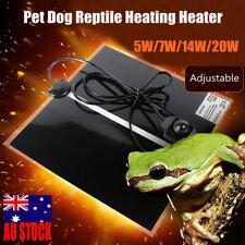 AU Pet Heat Pad Reptile Lizard Electric AdjustableHeating Mat Warmer Blanket