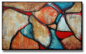 BUNTE MALEREI KUNST BILDER Original HANDGEMALT Gemälde Acryl modern MICO 100x60