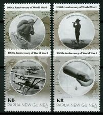 Papua New Guinea PNG 2014 MNH WWI WW1 World War I 4v Set Aviation Stamps