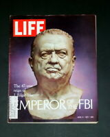 LIFE MAGAZINE APRIL 9 1971 J EDGAR HOOVER
