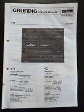 Original Service Manual  Grundig CCD 600