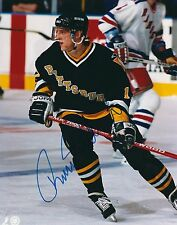 Signed 8x10 Tomas Sandstrom Pittsburgh Penguins Photo - Coa