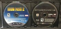 Spider-Man 3 + Iron Man 2 -  Sony PlayStation 3 PS3 Lot Game Tested & Working