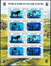 WWF Mongolia - Wild Horses - Holographic/3D Stamp Sheet - Przewalski - Cool Item