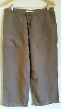 Made in Italy linen 3/4 trousers 34/36 waist <S3169