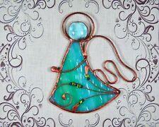 Stained glass angel, window decor, baby gift, angel gift, suncatcher, Tiffany