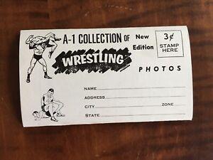 Wrestling Foldout Photo Booklet 1960s - Buddy Rogers, Skull Murphy Pre WWWF