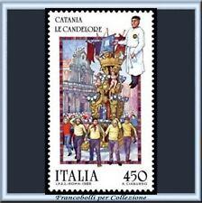 1986 Italia Repubblica Folcrore Catania Candelore 1752