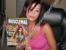 WWE CANDICE MICHELLE HAND SIGNED AUTOGRAPHED MUSCLE MAGAZINE WITH PROOF AND COA