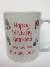 Personalized Happy Birthday Coffee Mug with Custom Message/Photo (FREE SHIPPING)