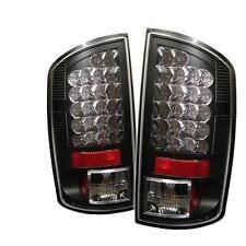 Tail Lights Dodge Ram 1500 2007-2008 Ram 2500 3500 2006-2009 LED - Black