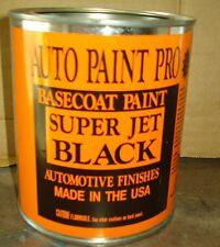Super Jet Black urethane basecoat quart auto body shop restoration car paint