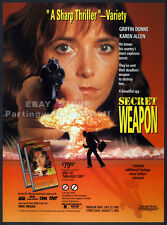 SECRET WEAPON__Original 1990 Trade print AD promo__KAREN ALLEN__GRIFFIN DUNNE
