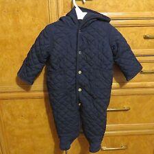 Boys infant Polo Ralph Lauren one piece snowsuit/ bunting blue size 6M NWT $115