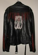 Vintage Wilson Heavy Leather Jacket (Native American Patch) (XXL)