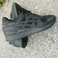 Asics GEL-LYTE III Mens Size 10 Athletic Sneakers Shoes Black