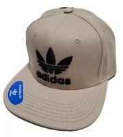 Adidas Men's Originals Trefoil Chain Snapback Flatbrim Cap Hat, Trace Khaki