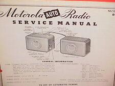 1950 MOTOROLA AUTO CAR AM RADIO FACTORY SERVICE SHOP REPAIR MANUAL MODEL 801