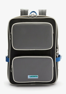 Lacoste LCST Square Backpack, NH3306LV F56, Smoked Pearl Noir Ultramarine