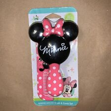 Disney Baby Minnie Mouse Hair Brush & Comb Set Pink Girl