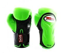 Twins Special Boxing Gloves BGVL-6 Black/Green 14 oz Express Delivery