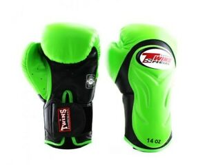 Twins Special Boxing Gloves BGVL-6 Black/Green 10 oz Express Delivery