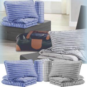 Reise Bettenset Steppbett + Kissen Decke Urlaub Camping Gäste Schlafkissen