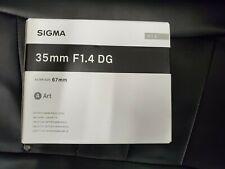 Sigma 35mm F1.4 DG HSM 'A' Art Lens in Canon EOS Fit (UK Stock) BNIB UK Seller