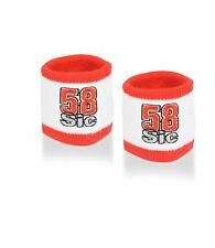 SWEATBANDS Wristbands x2 Simoncelli 58 SUPER SIC MotoGP Bike BSB Superbike NEW!