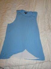 Topshop Sky Blue Maternity Nursing drape style top size 12