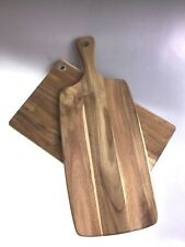 Chopping/Serving Boards Set Of 2 Acacia Wood Scratch & Dent Sale