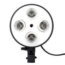 4in1 E27 Studio Socket Adapter Photo Light Lamp Bulb Base Holder Softbox 6Z7P