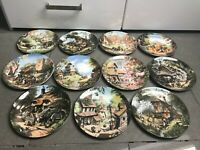 Coalport Set of 11 Plates. 'The Tale of a Country Village'. By Robert Hersey