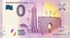 Billet Euro Schein Souvenir Touristique 2018 Museum Aan de Ijzer NIEUWPOORT