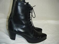 vtg 80s Greater L.A. black all leather Gothic Victorian womens vintage boots 7.5