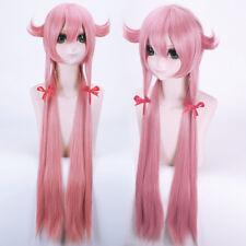 Mirai Nikki Gasai Yuno 100cm Cosplay Anime party wig Costume Hair heat resistant