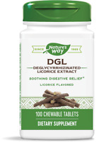 Nature's Way DGL Deglycyrrhizinated Licorice 100 Tablets | Digestive Relief