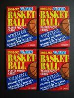 1991 Fleer Basketball Series 2 Wax Pack 4 Pack Lot
