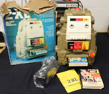 Vintage 70'S Type 1 Mego Toy 2Xl Talking Robot W/ 2 8 Track Tapes Book Box Works
