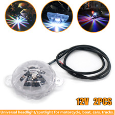 2xMotorcycle Car Underglow Under Car Body Atmosphere Lamp Colorful Universal 12V