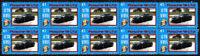 PORSCHE AUTO ICONS STRIP OF 10 VIGNETTE STAMPS, PORSCHE GT2 #3