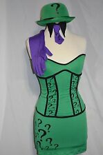 Riddler Women Costume Halloween Batman Green Purple size XSmall (dress size 0-2)