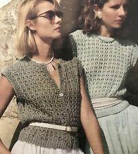 FL89 - Knitting Pattern - Lady's Aran Weight Fisherman's Knit Cardigan & Top