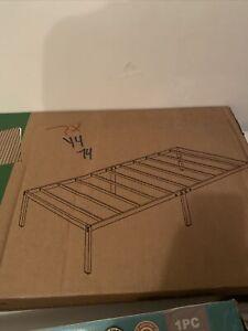Mainstays Twin Bed Platform Folding Steel Bed Frame Portable Powder Coated Black