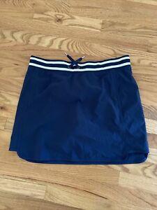 Athleta Skirt Skort Size 14 Sonara Navy Stripe Style 489466 Poly Spandex