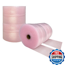 Pink Anti Static Bubble Cushioning Wrap Roll 175ft X 12 Shipping Moving Storage