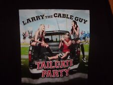 Larry the Cable Guy Tailgate Party black 2011 12 XL t shirt