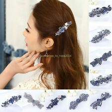Fashion For Women Snap Barrette Crystal Hair Clip Hairpin Barrette Accessories