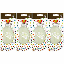 15266 Jelly Belly COCONUT 3D Bean Air Freshener Car (x4) Hanging Gel Type